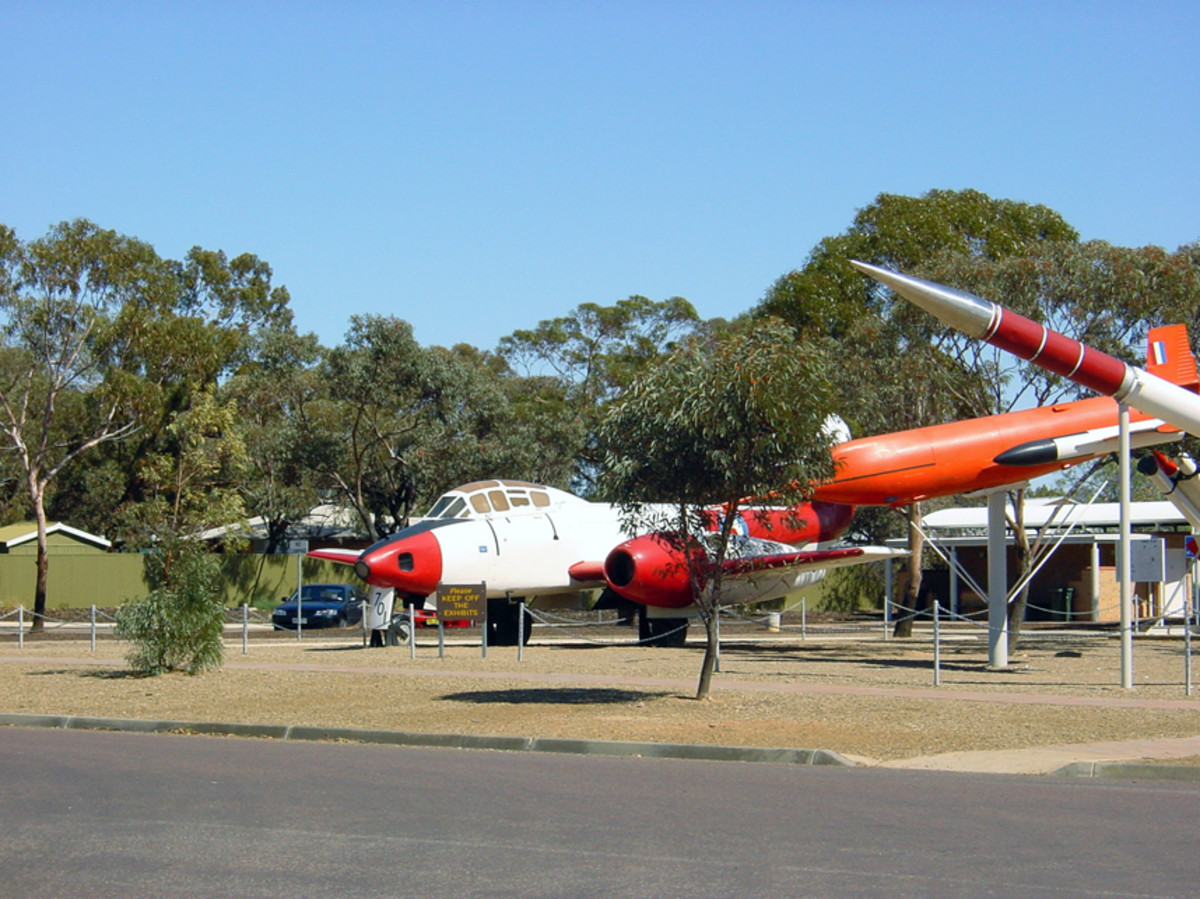 Displays at Woomera Missile Park.