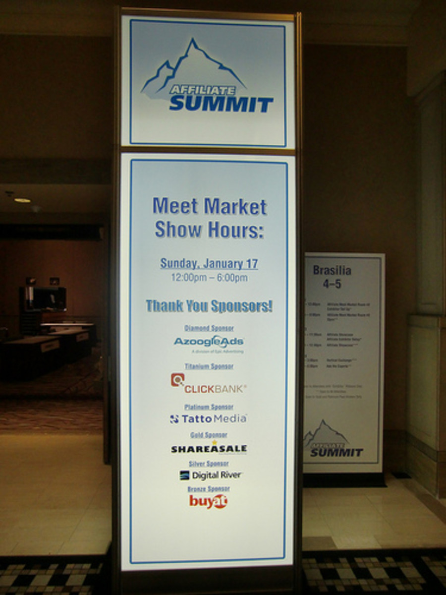A banner from the Affiliate Summit.