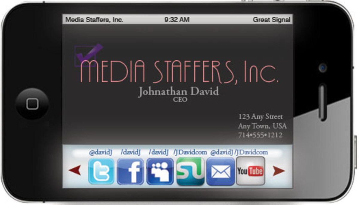 Business Card with Social Media Icons