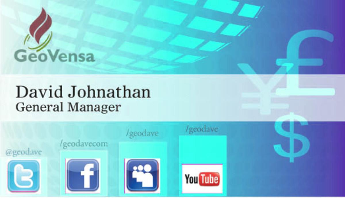 European Business Card w/ Social Media