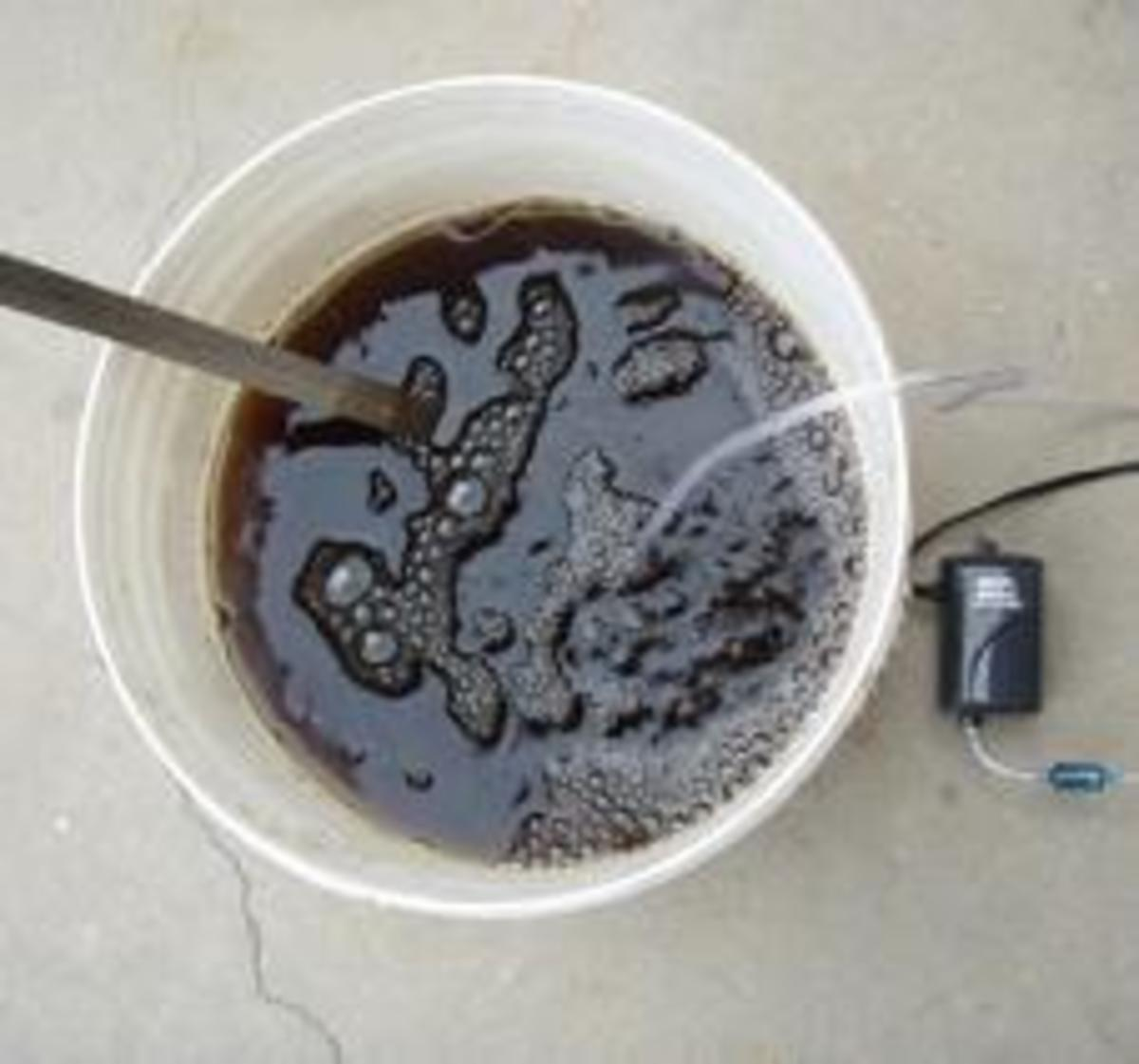 Nutrient-rich worm tea.