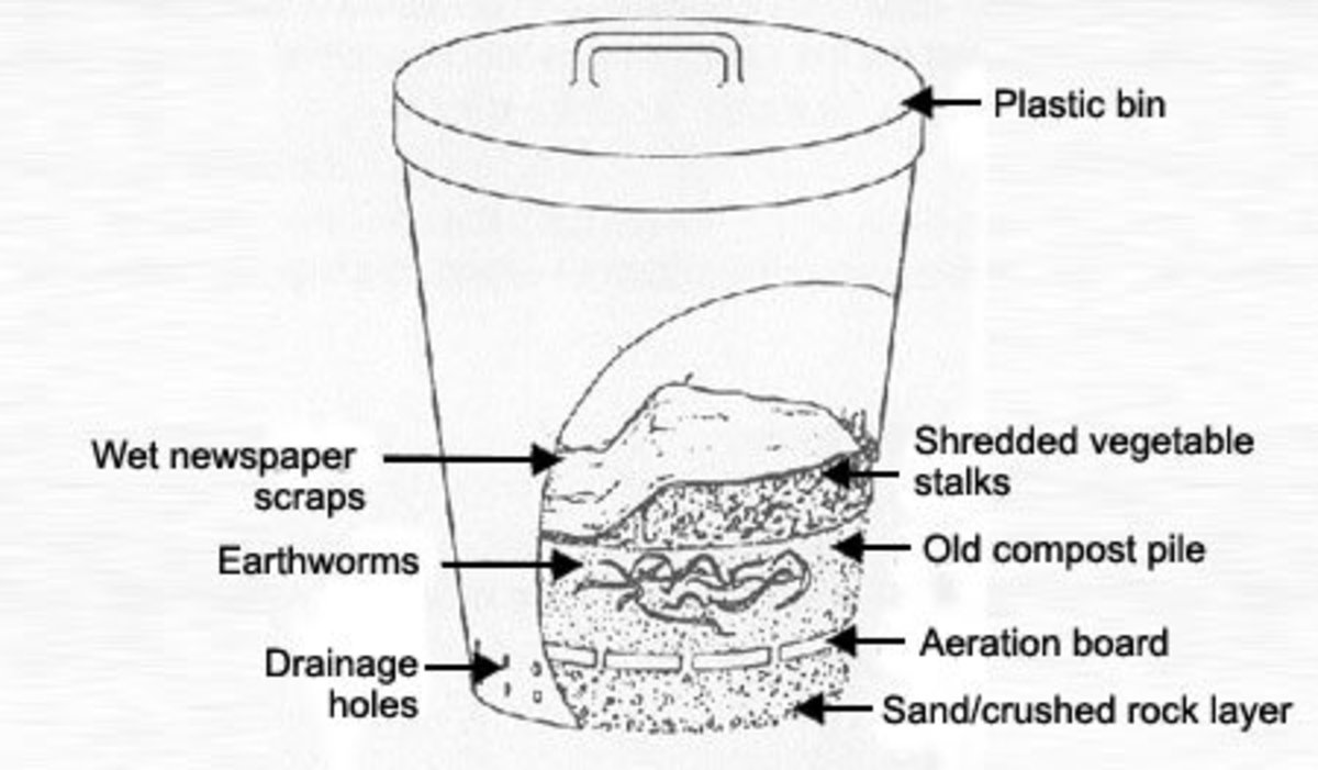 Bin worm farming