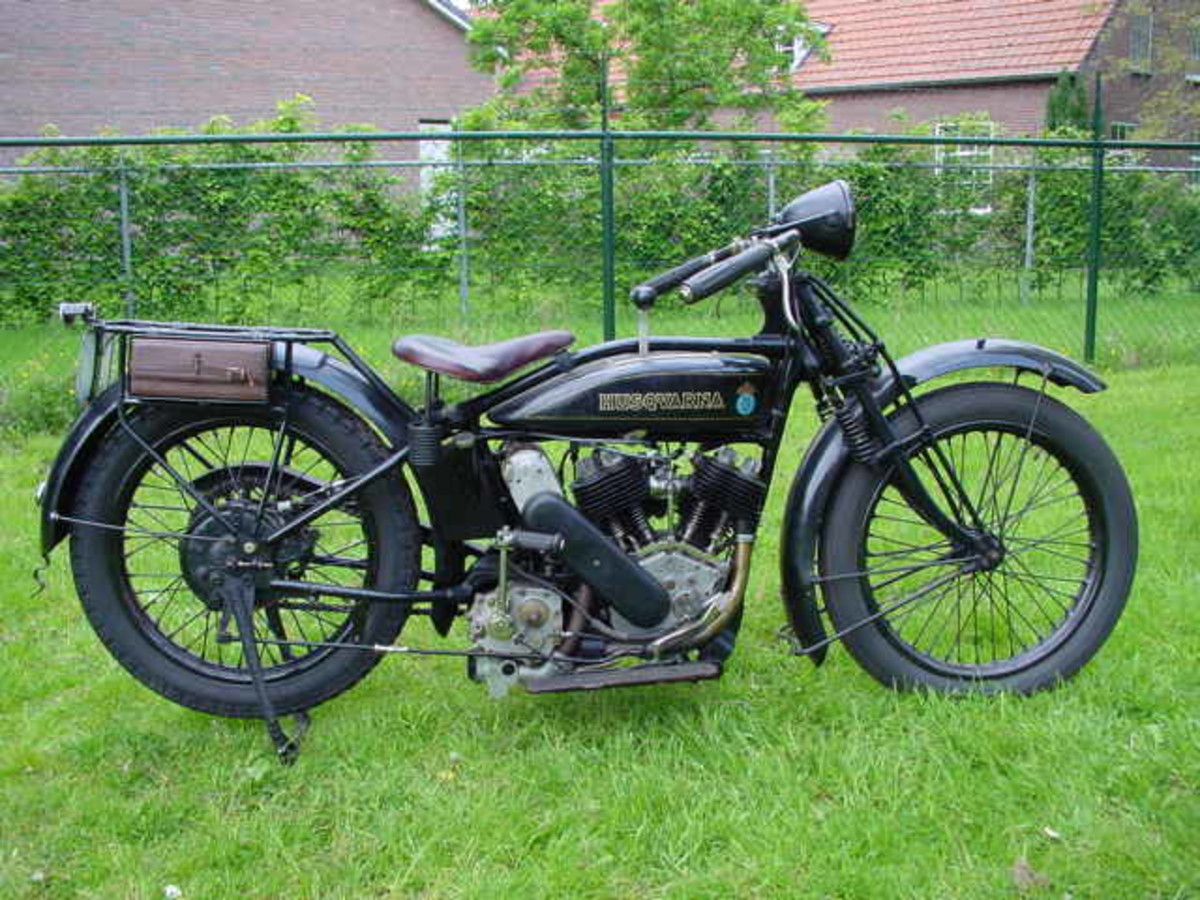 Vintage motorized bike is a great collectible.