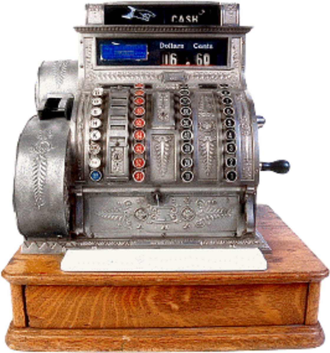 An old manual cash register is a good item for pickers to sell.