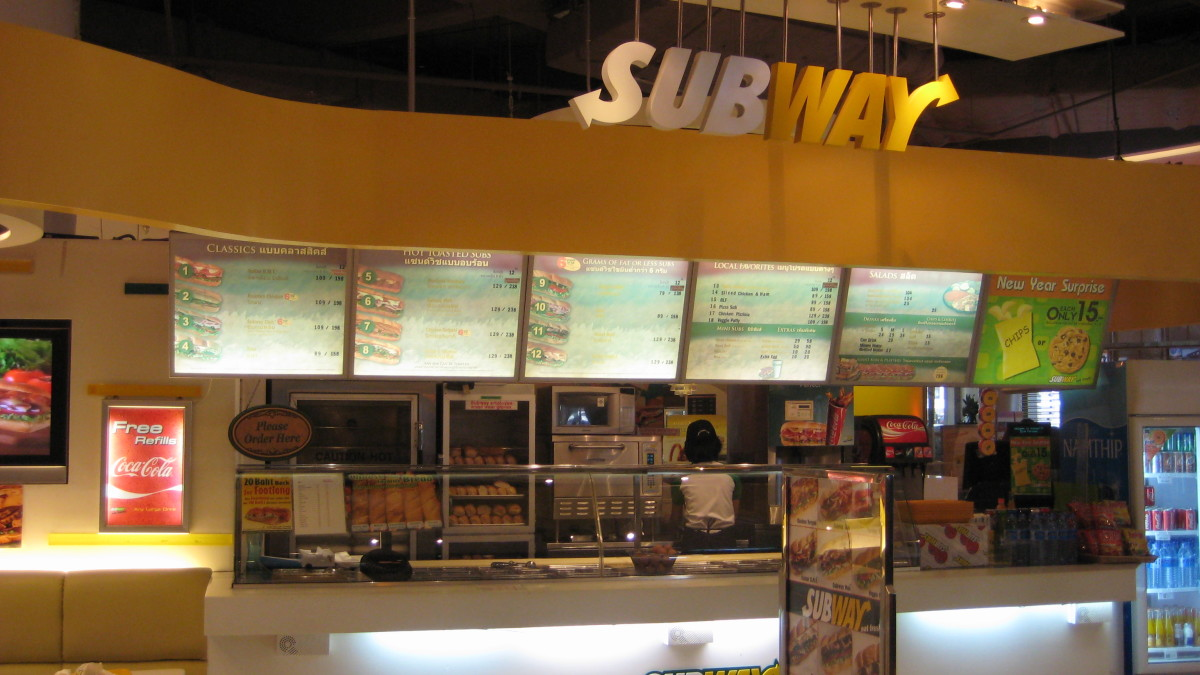 In Siam Paragon Department Store - Subway is a US Franchise