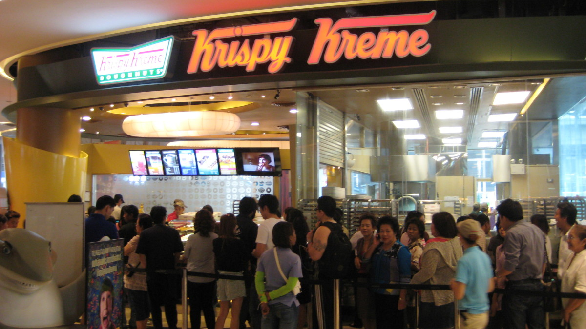 Krispy Kreme in Siam Paragon - Opened by a wealthy Thai entrepreneur