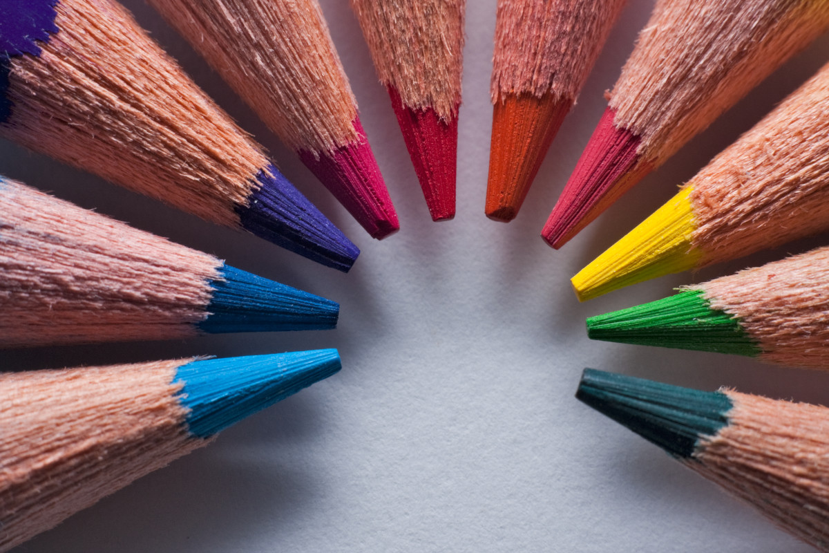 Coloured pencils can be used for drawing, but an inexpensive writing pencil works well, too