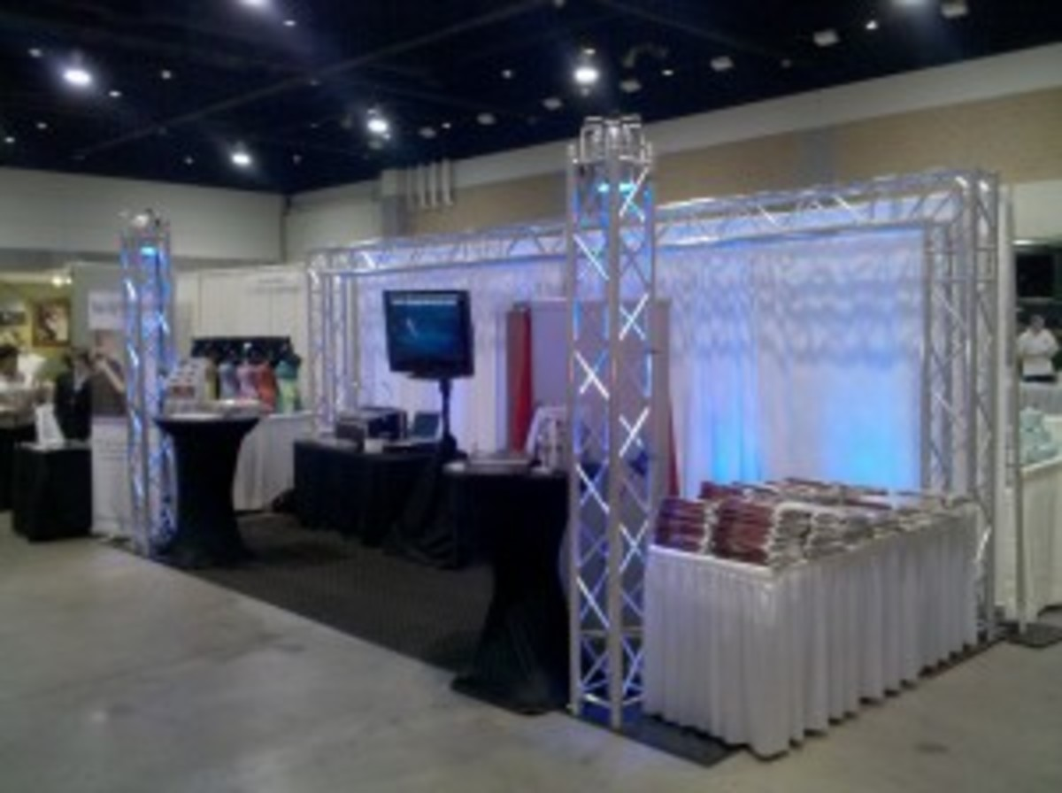Example of a disc jockey booth.