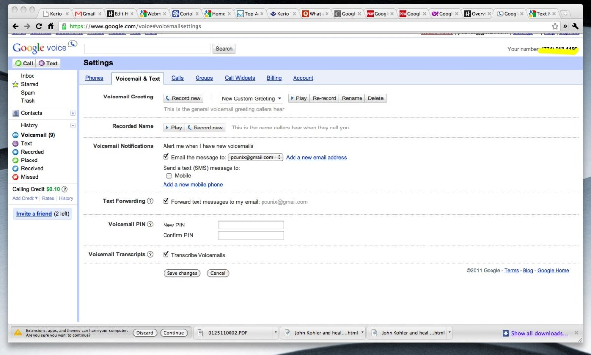 SMS Text forwarding with Google Voice