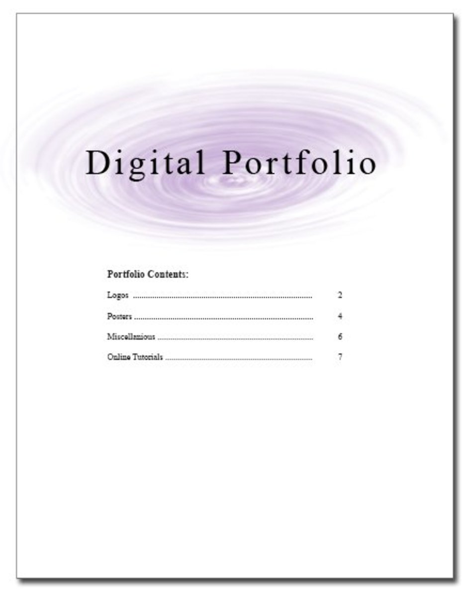 Organize your images and give them a table of contents. The last thing you want to do is confuse the employer.
