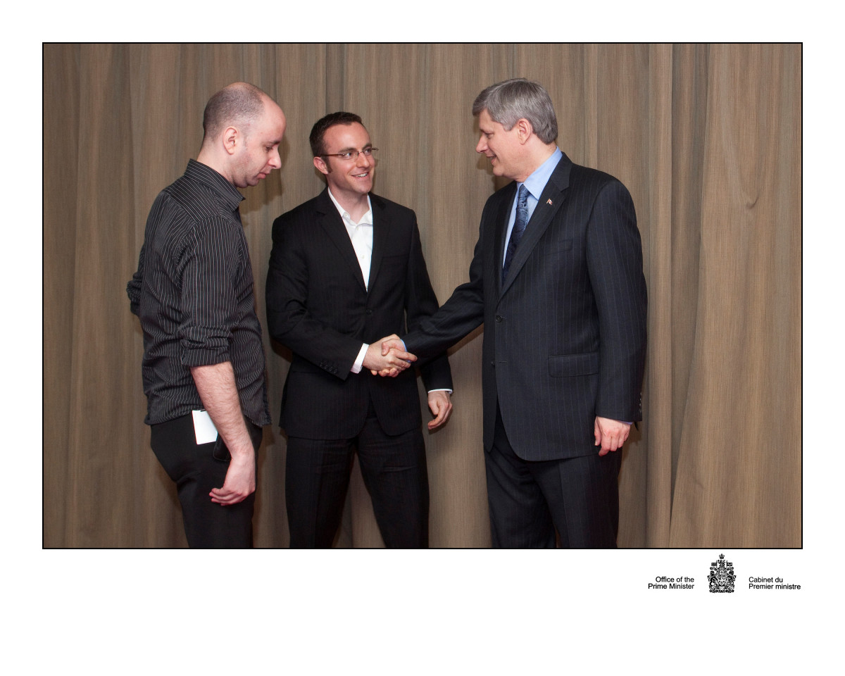 Meeting the Prime Minister of Canada
