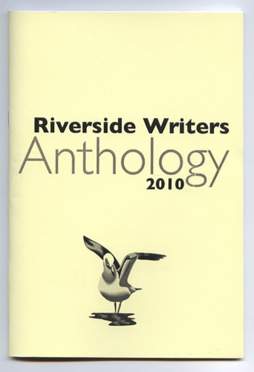 Booklet produced by Riverside Writers in 2010, which features three of Adele Cosgrove-Bray's short stories.  The cover is simple and direct, and it uses a Copyright free image.
