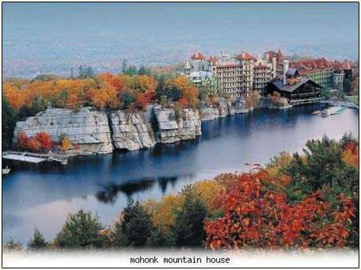 Fall at Mohonk from an old postcard