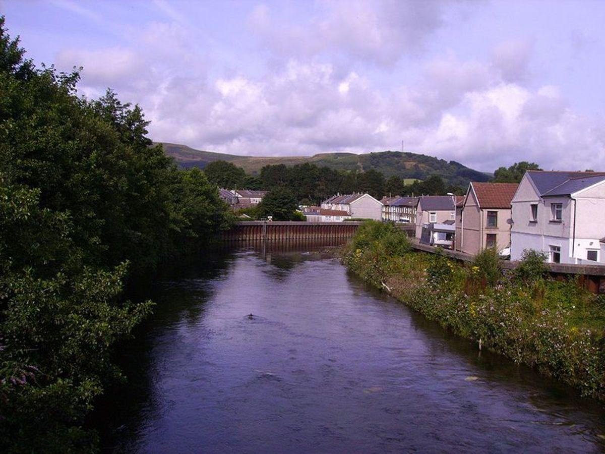 River Rhondda at Gelli, Rhondda