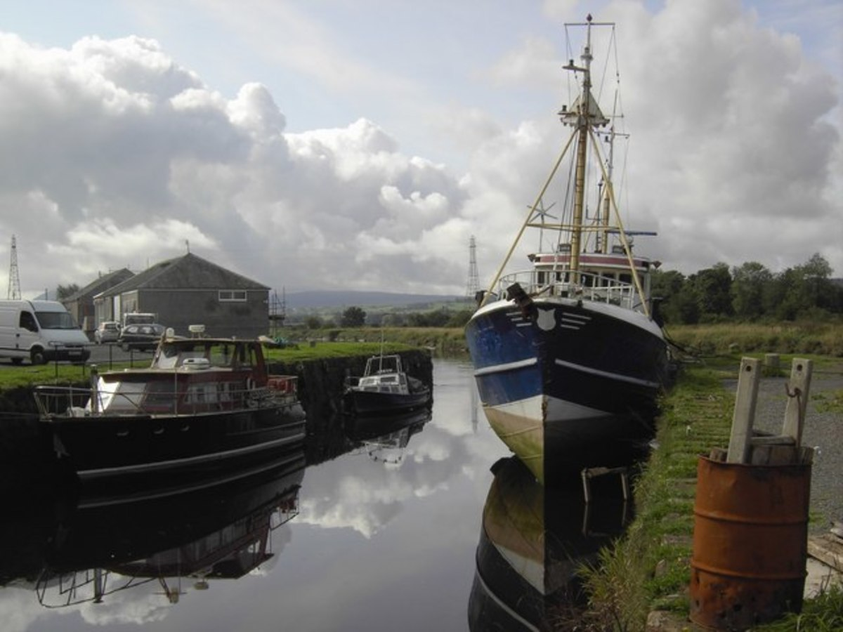 Boats at the Quay, Dumfries