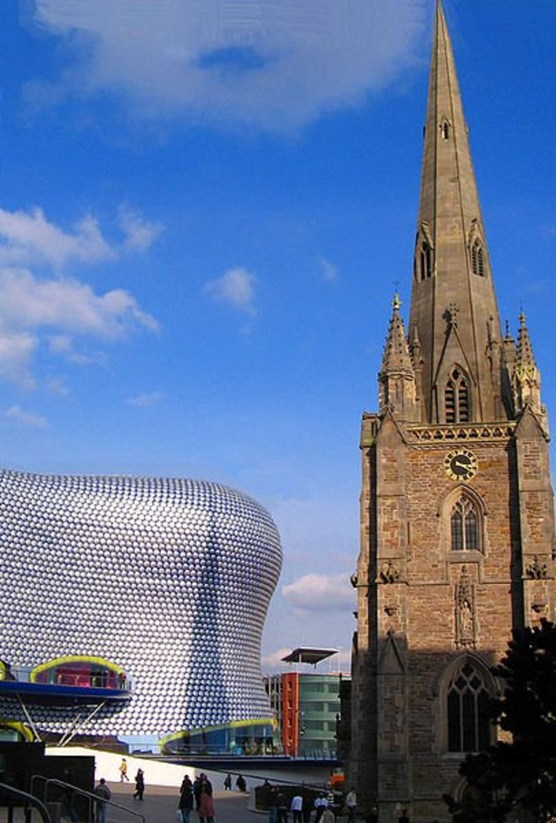 Bullring and St Martin's Church, Birmingham