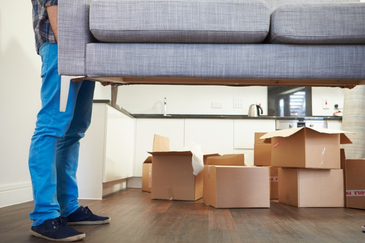 Heavy furniture is a major factor in moving expenses.