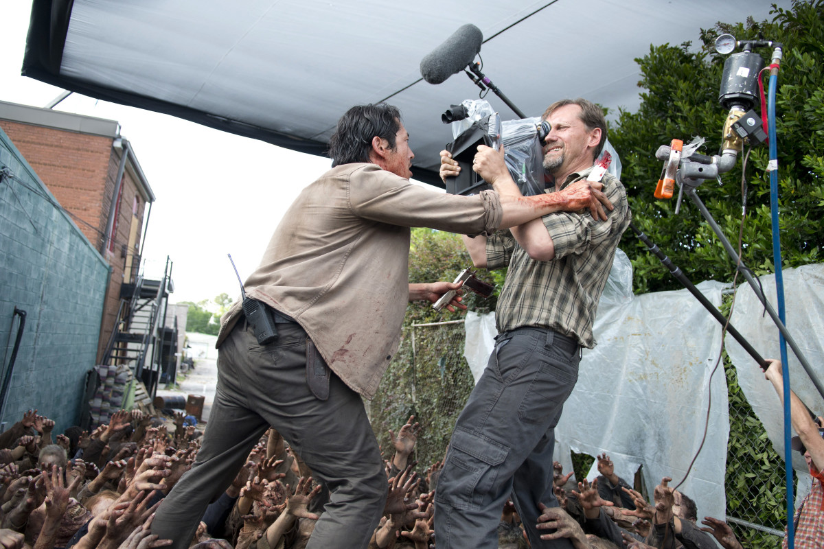 "Filming ""The Walking Dead."""