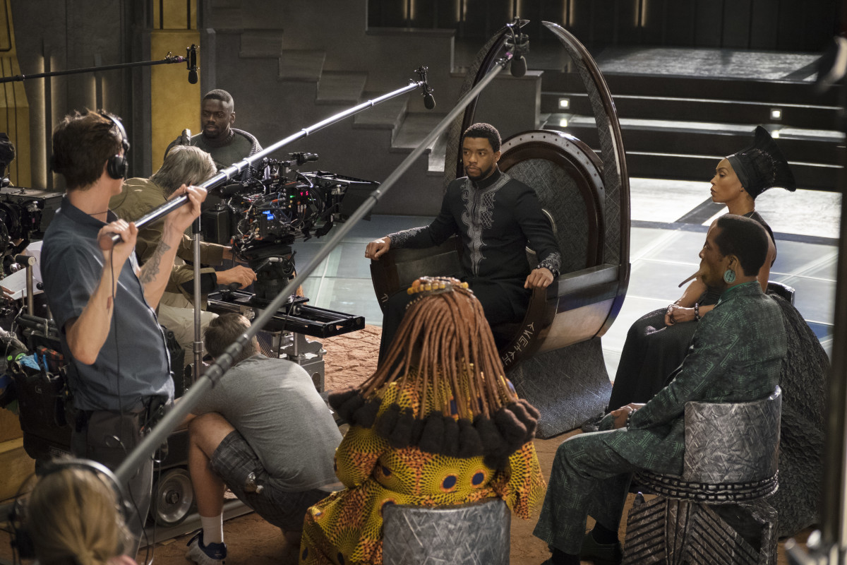 "Filming ""Black Panther."""