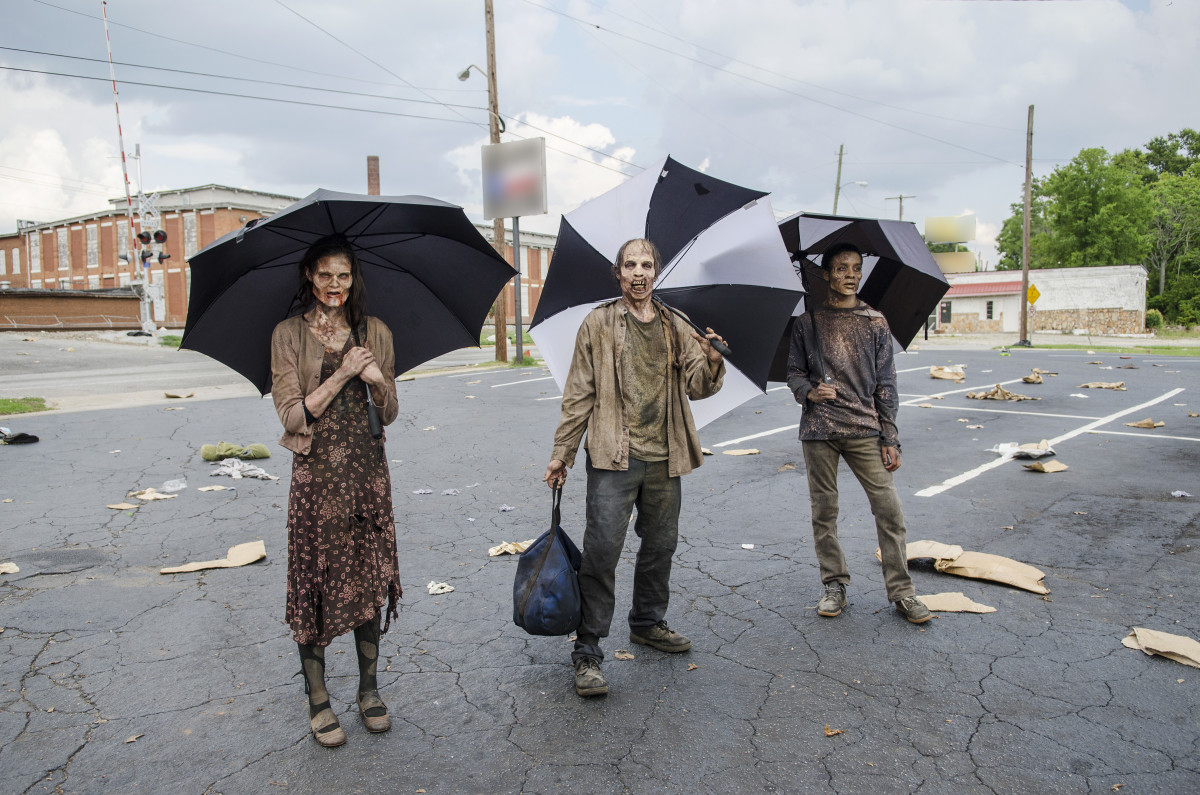 "Zombie extras on ""The Walking Dead."""