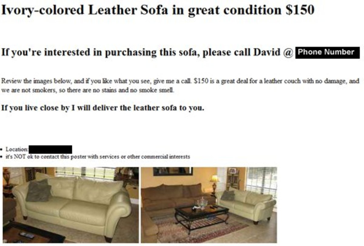 This Is A Screen Shot Of The Completed Ad, Live On Craigslist. Iu0027