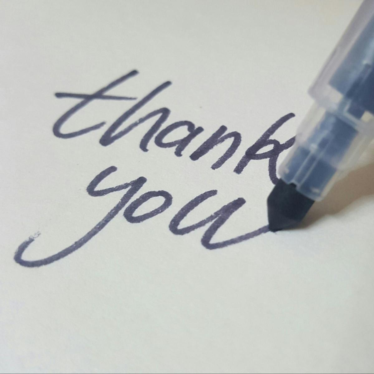 Everyone appeciates a thank you.