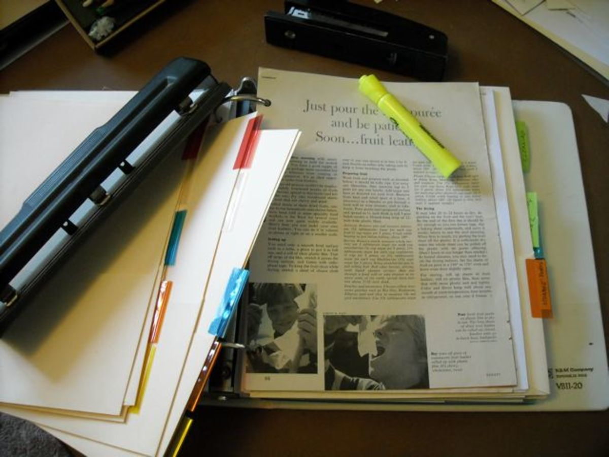 Make your own resource notebook from HubPages articles.