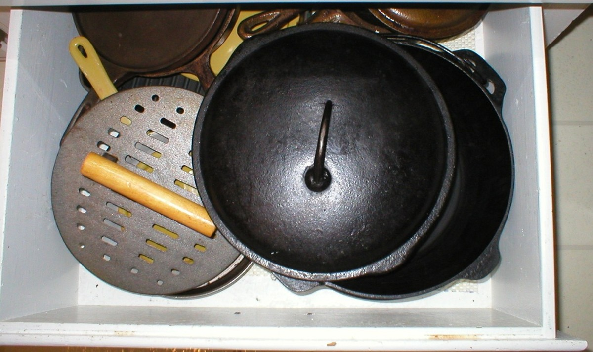 Grandma knew how to keep her cast iron perfectly seasoned.