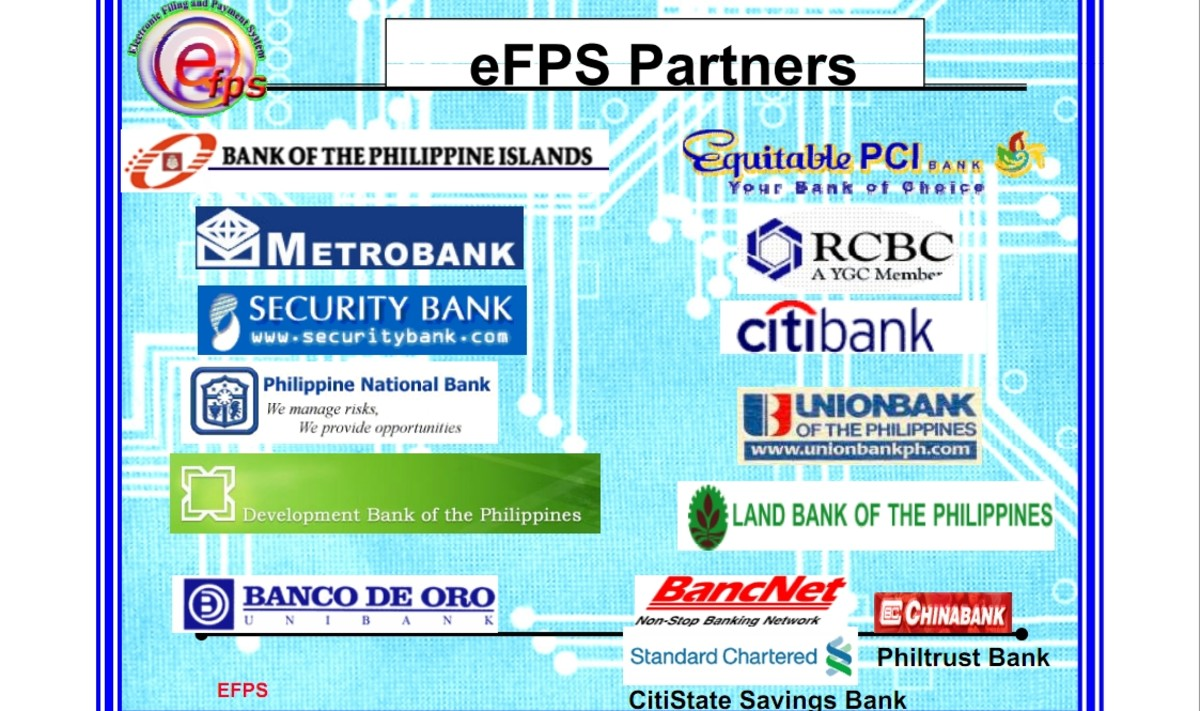 Here are the Authorized Agent Banks for eFPS. Please note, Equitable PCI Bank is no longer existing as it was bought by another bank.