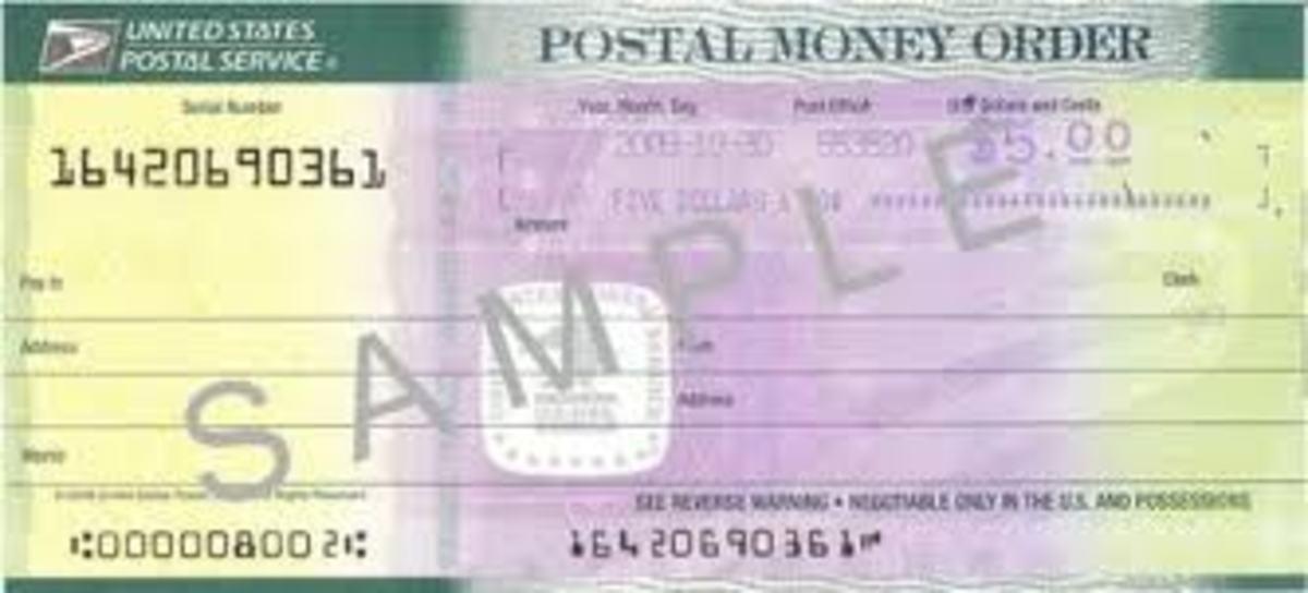 Sample Money Order