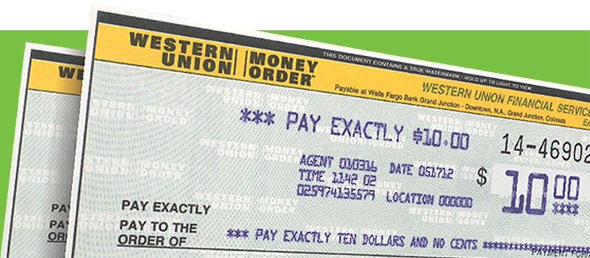 A money order looks a lot like a check.