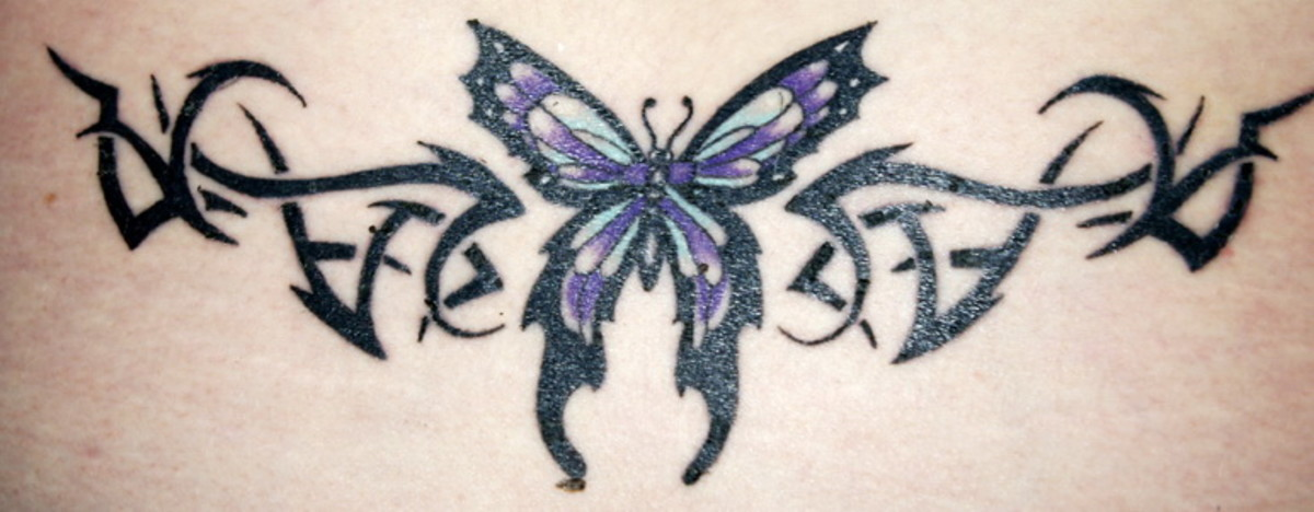 A butterfly tattoo design.