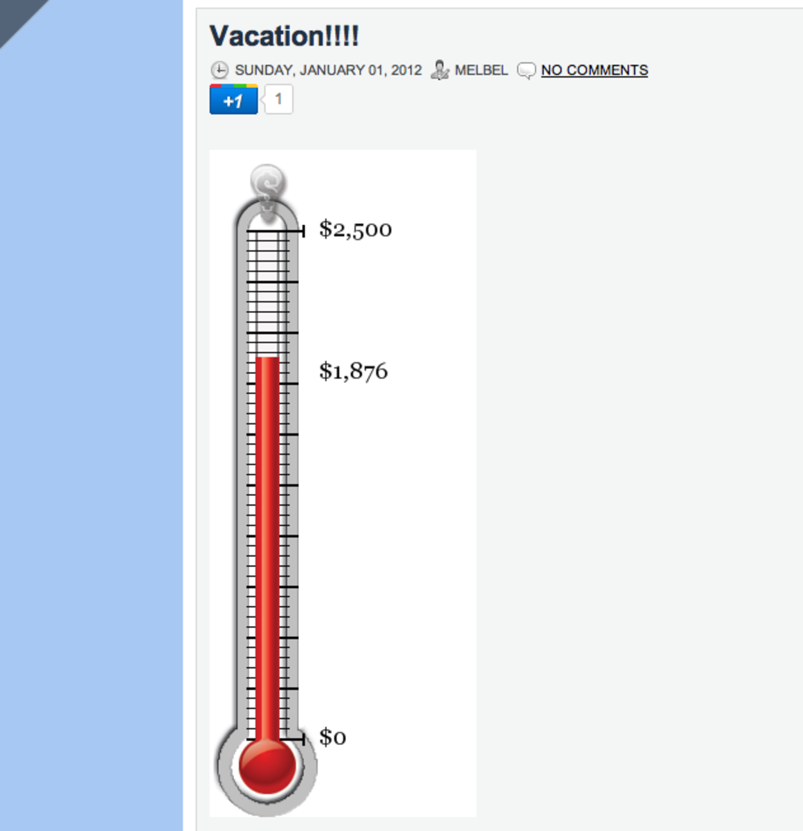 A fundraiser thermometer