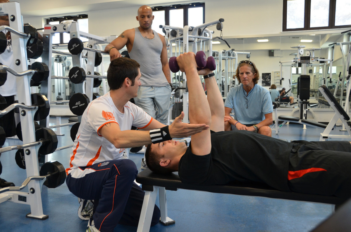 Fitness Trainer teaching an exercise
