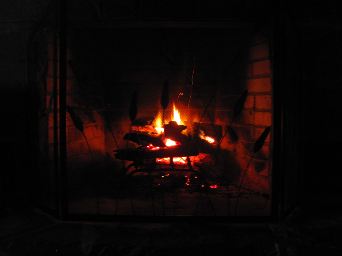 Aaah....the warmth of a cozy fire!