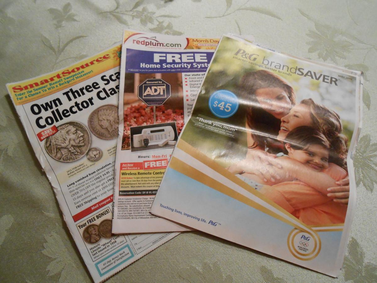 在本地报纸中的星期日优惠券飞行员是优惠券的主要来源。