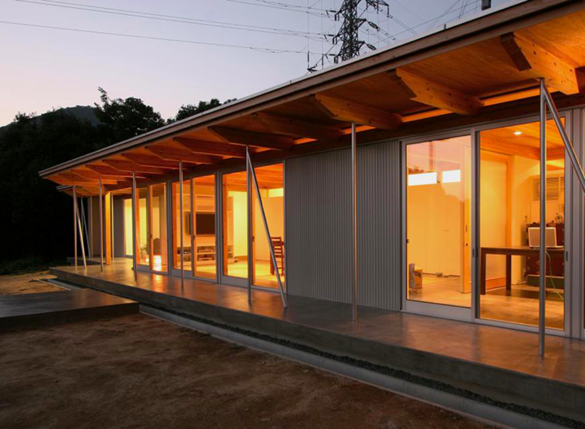 This 1,100 square foot B-House design by Anderson Anderson Architecture was  constructed in Japan