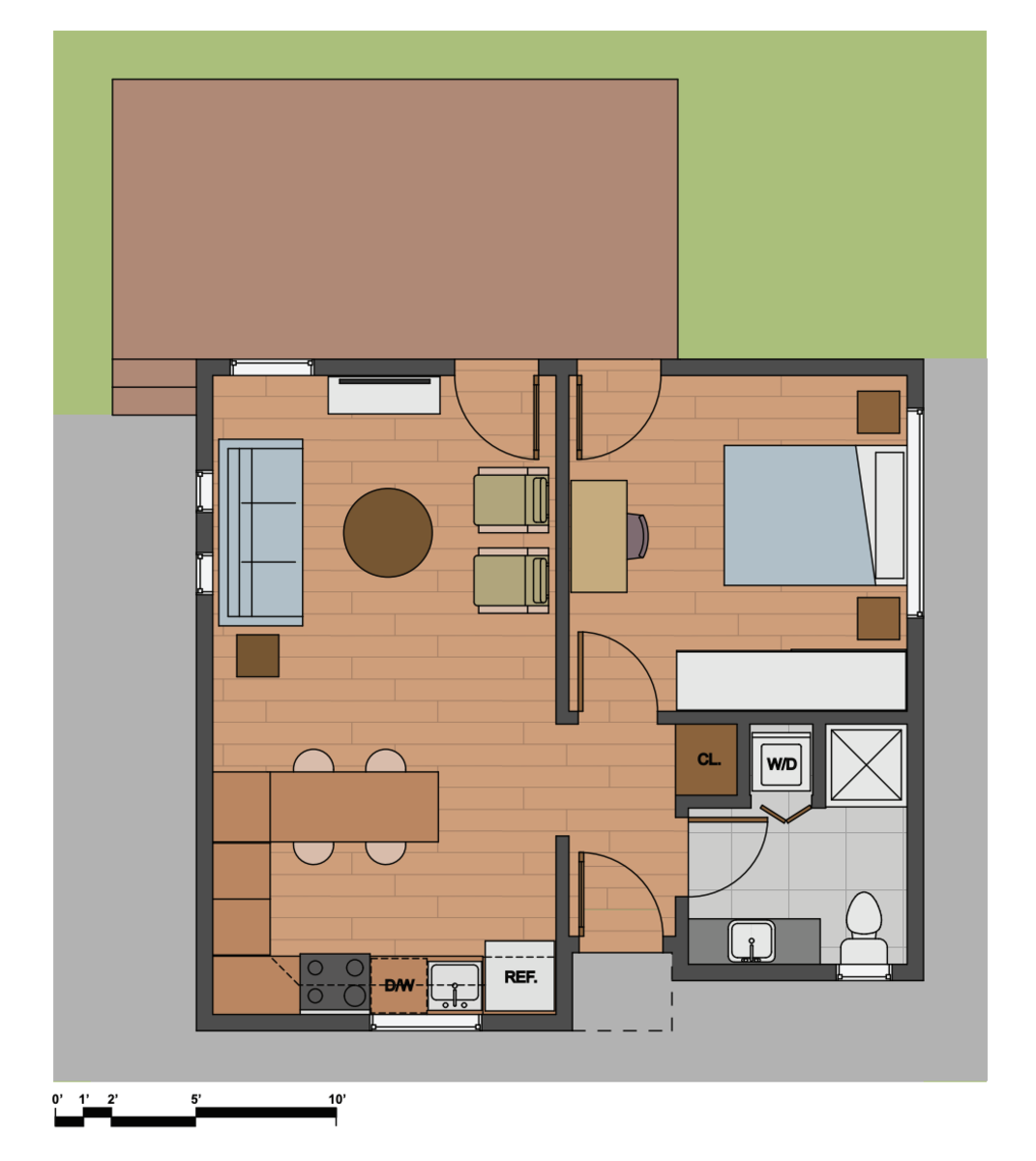 Floorplan for LE596, LS596 and LW596