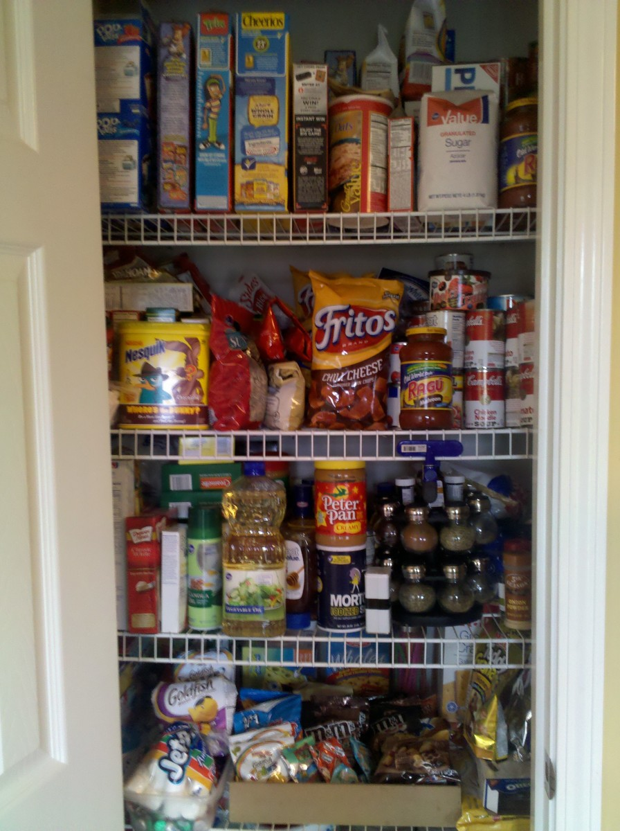 Thanks to coupons my pantry is fully stocked!