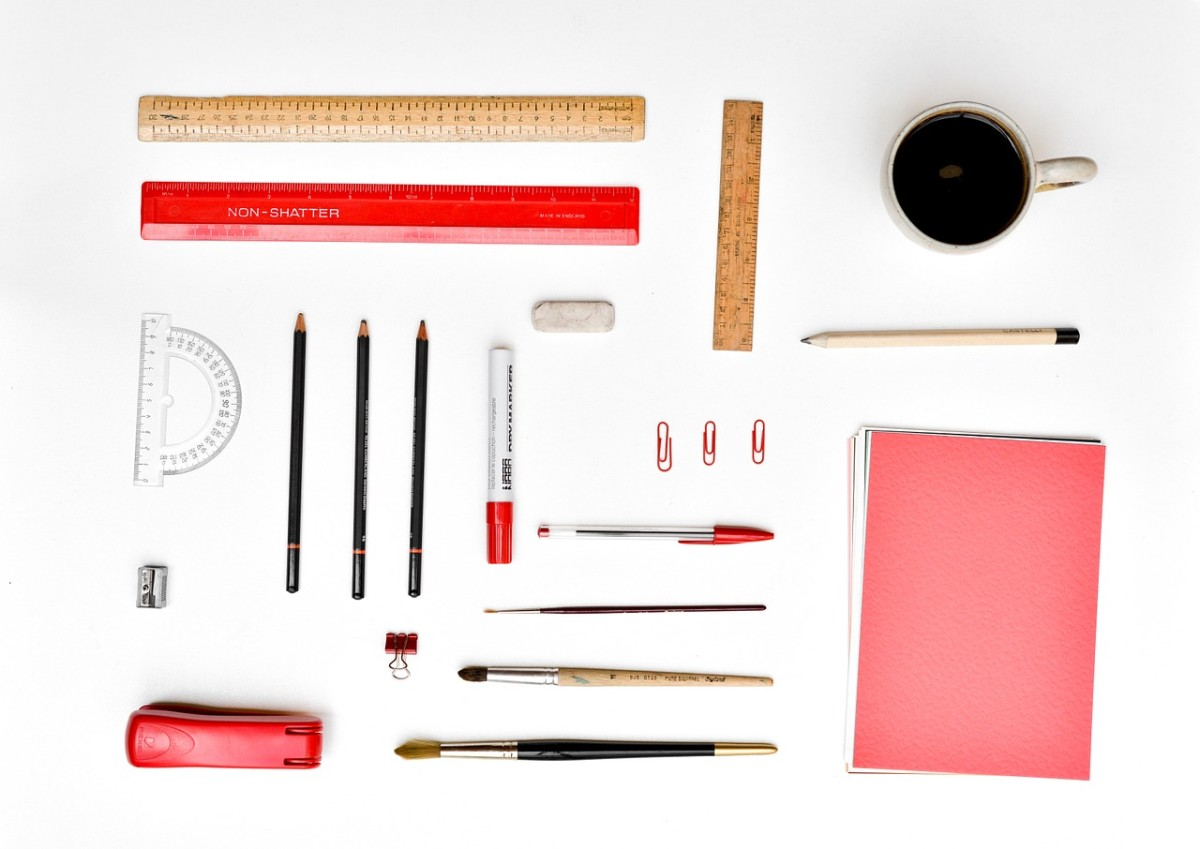 Color coding your files and office supplies is stylish way to stay organized.