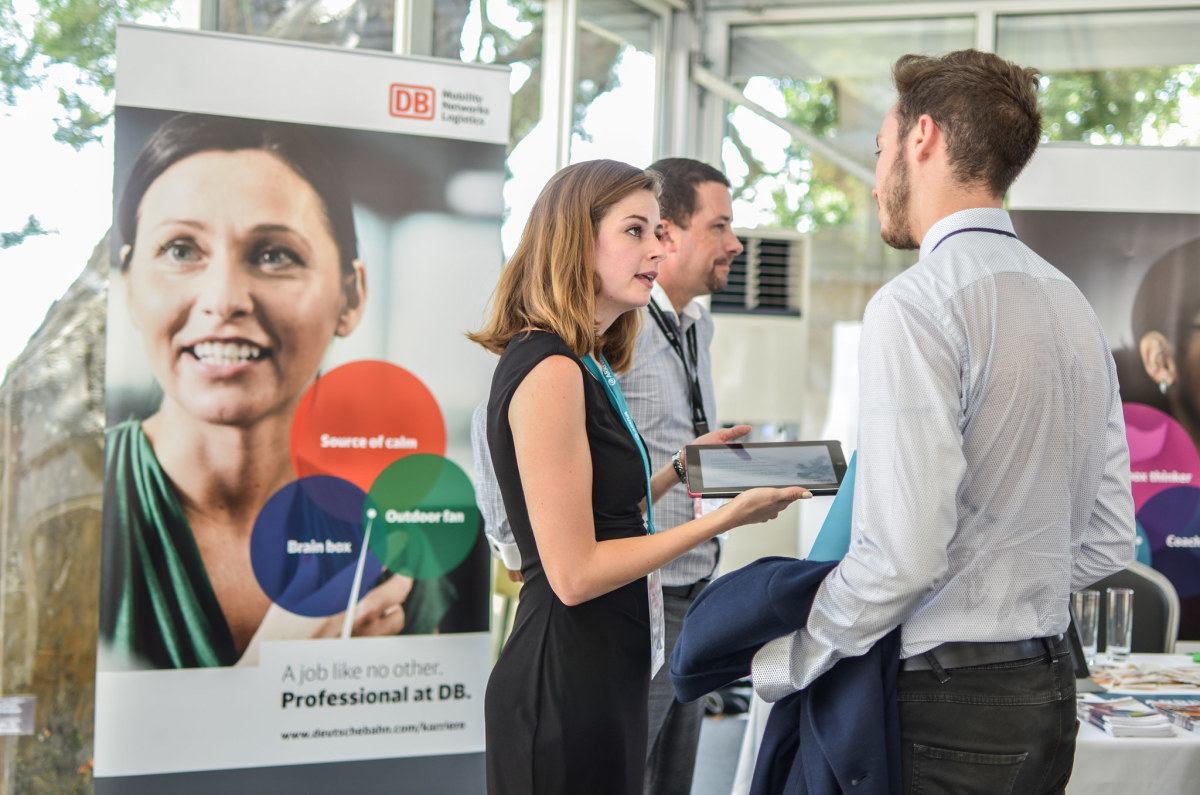 Monitor your behavior while at a career fair. The recruiters are watching.
