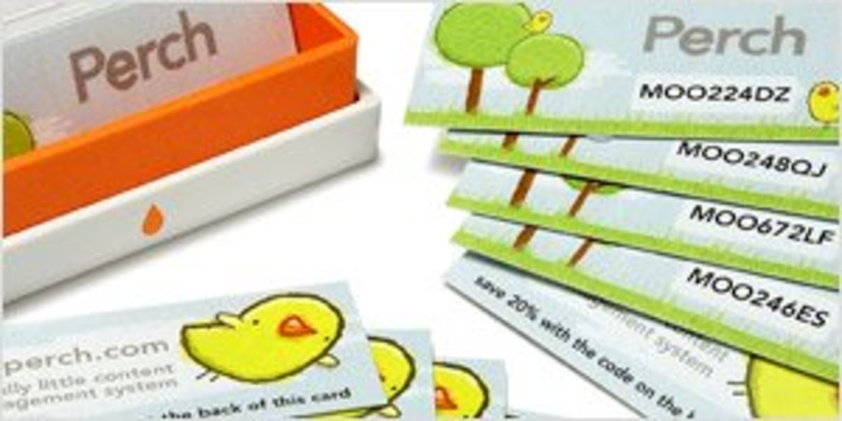 Eye-catching mini cards to hand out.