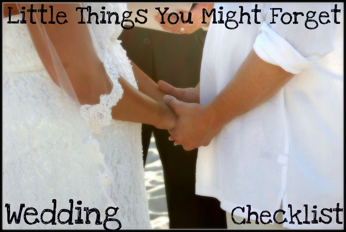 The ultimate exhaustive wedding checklist.