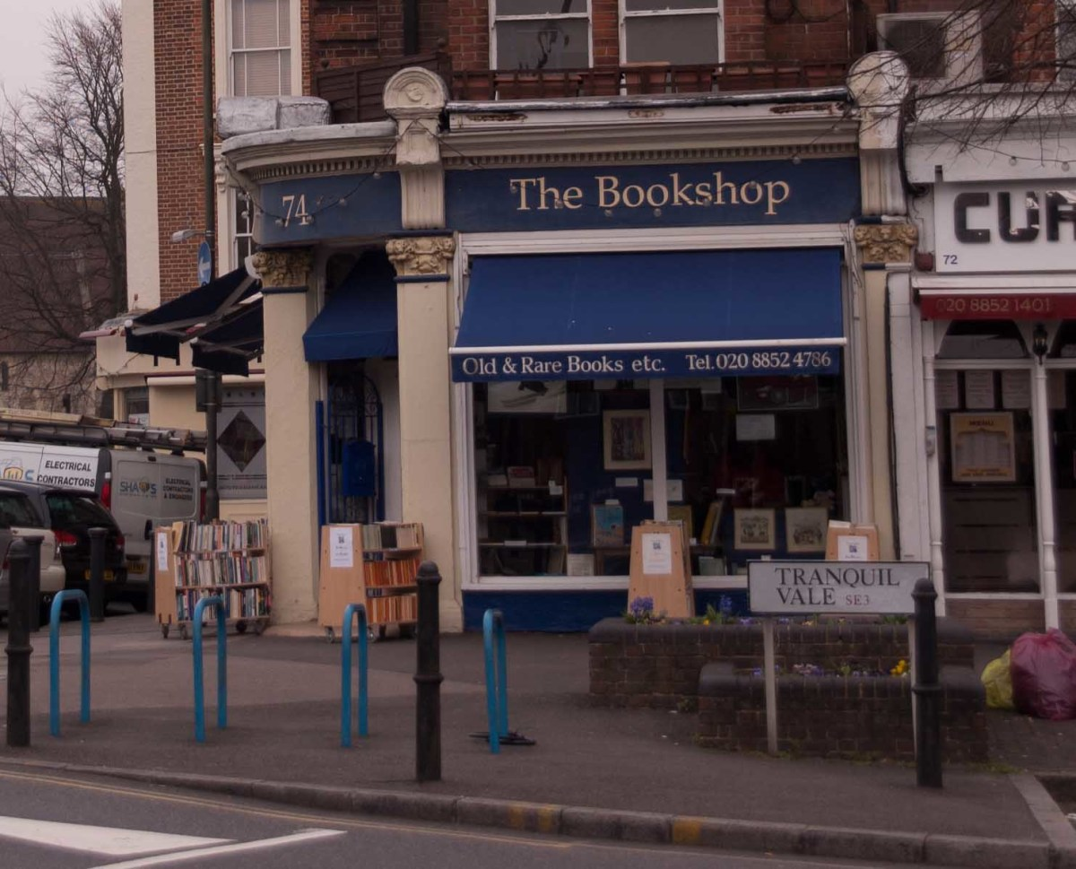 Small Retailers have to use all the tools at their disposal to keep sales up. This book shop has placed portable book shelves outside their store for easy browsing...