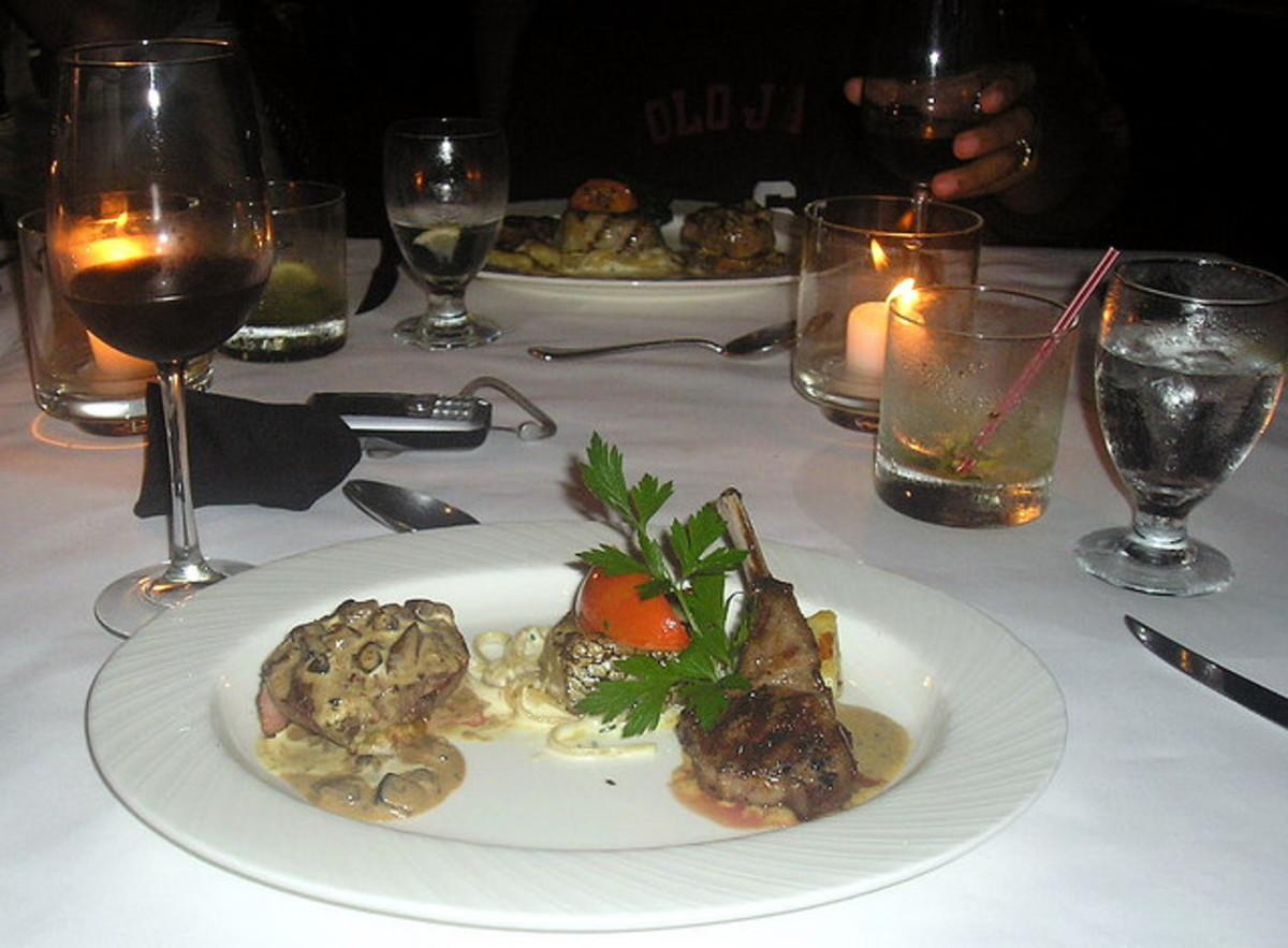 Fancy restaurant meal