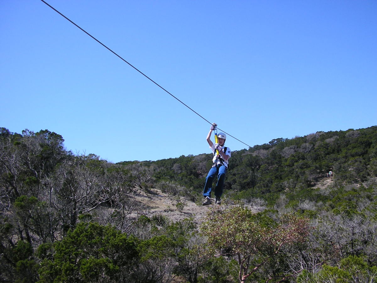 Nearby zip lines.