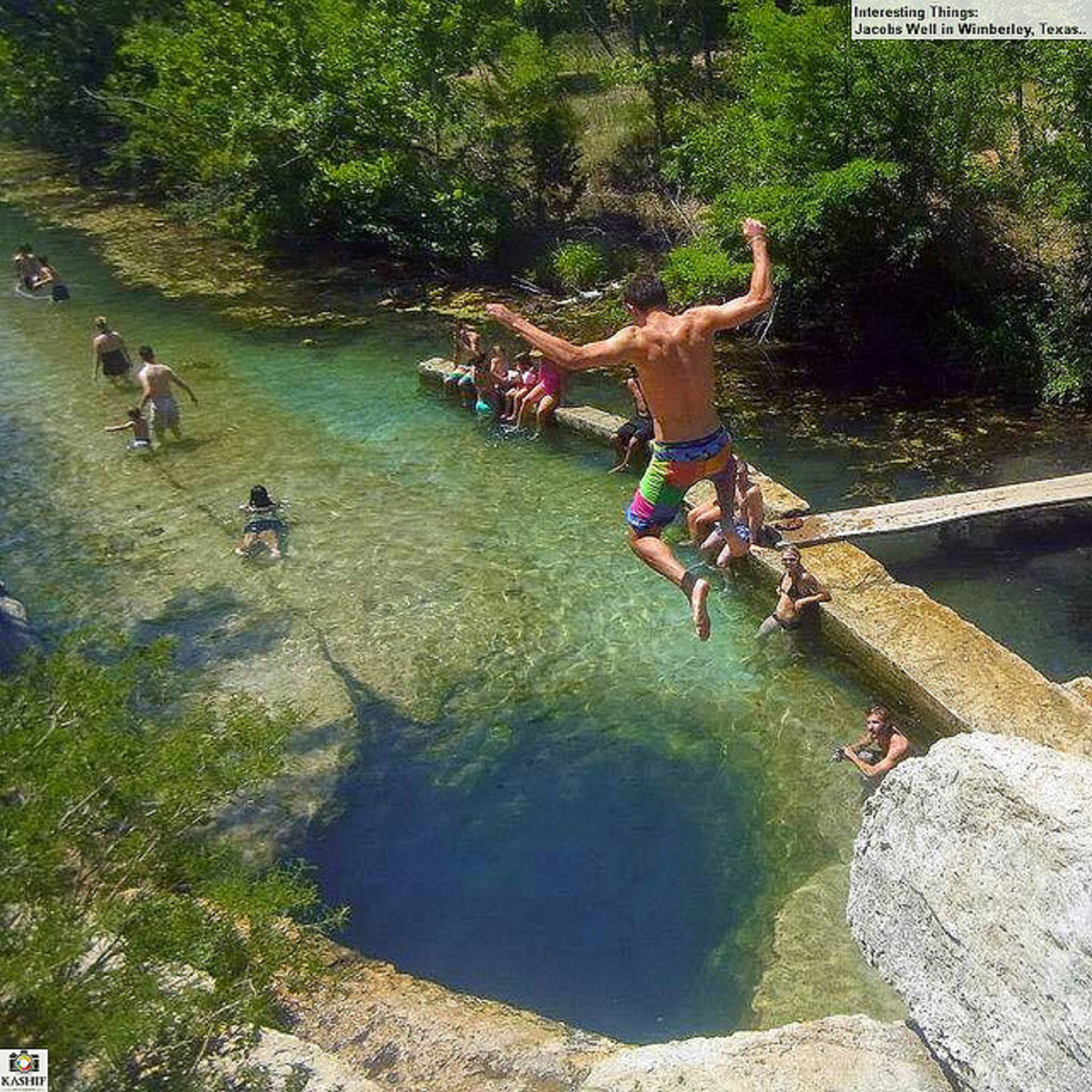 Jacob's well in Wimberley resort area.