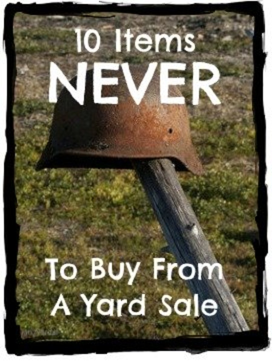Items never to buy from a garage sale