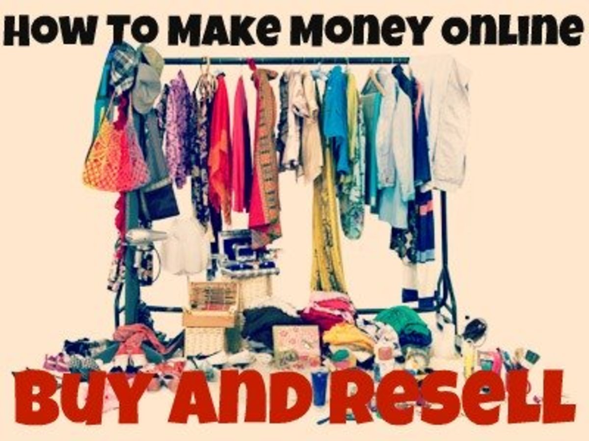 How to find clothing to buy and resell online