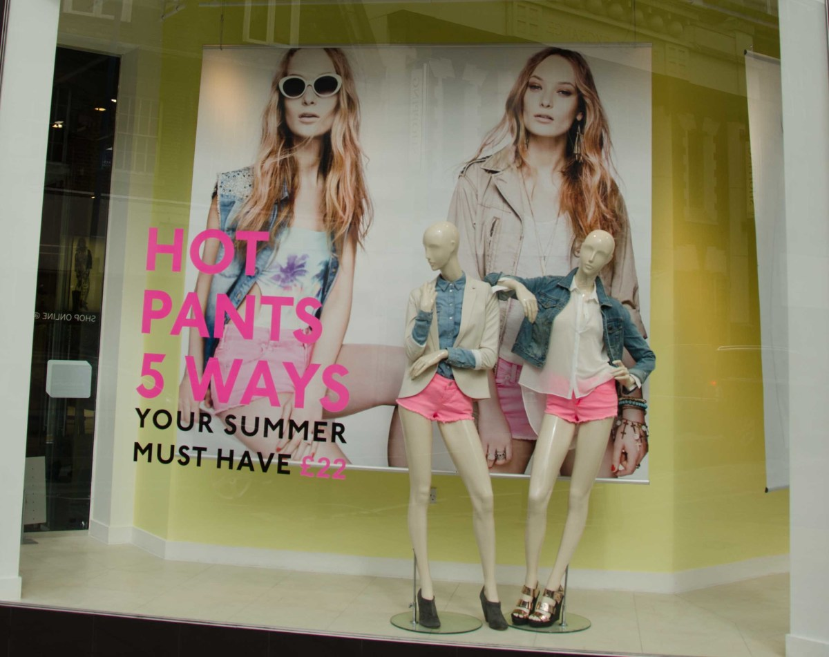 Window graphics can be used to highlight a product offer....